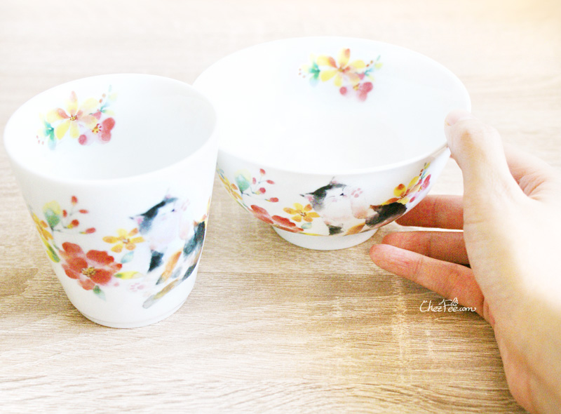 boutique kawaii shop chezfee mug bol japonais made in japan chat fleur 3
