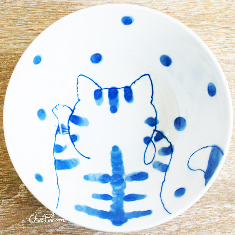 boutique kawaii shop chezfee vaisselle japonaise kawaii bol traditionnelle chat tigre 1