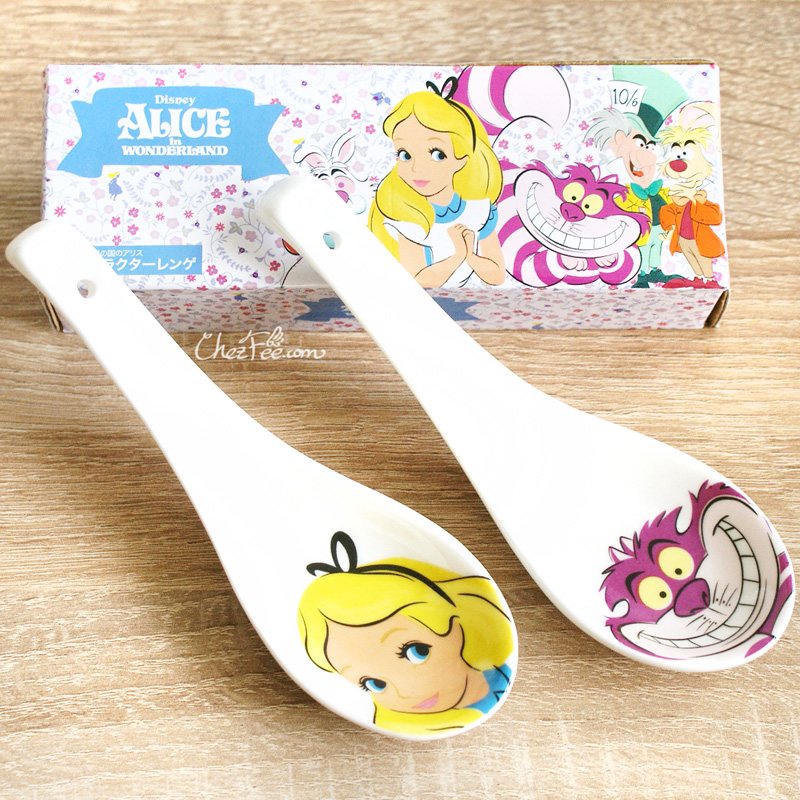 boutique kawaii shop chezfee cuillere japonais disney japan alice chat cheshire 1