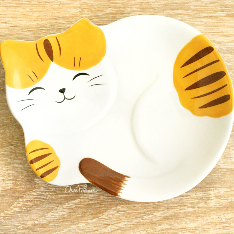 boutique kawaii shop chezfee assiette japonais yakushigama chat manekineko tigre 1