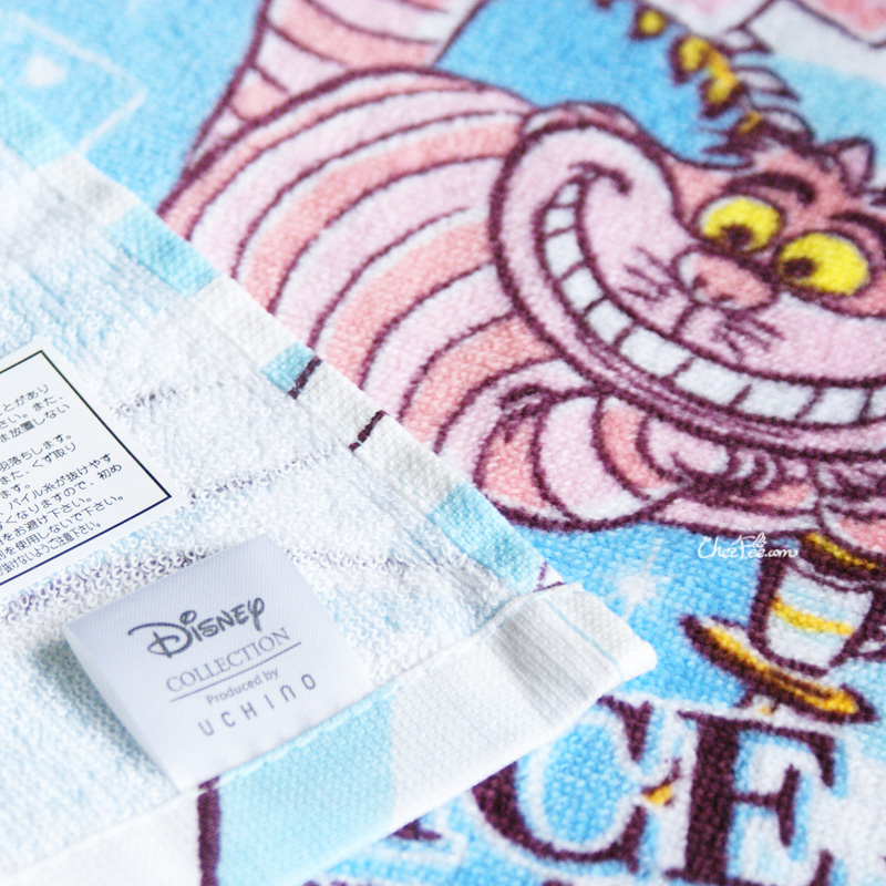 boutique kawaii shop chezfee disney japan wonderland alice pays merveilles serviette towel 4