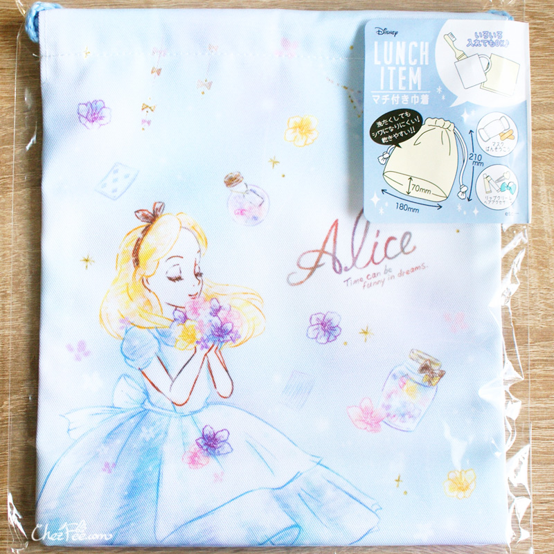 boutique kawaii shop chezfee disney japan pochon sac vrac alice wonderland pays merveilles 1