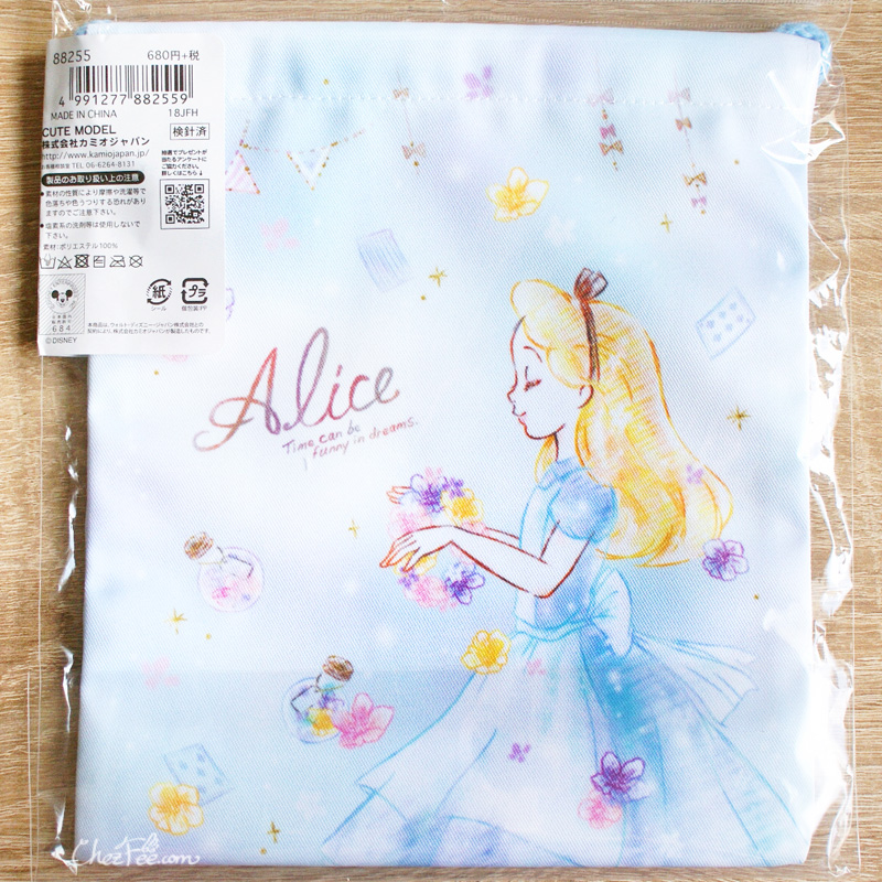 boutique kawaii shop chezfee disney japan pochon sac vrac alice wonderland pays merveilles 2