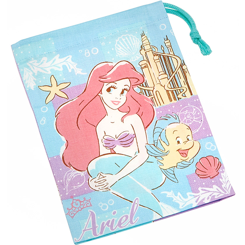 boutique kawaii shop chezfee disney japan pochon sac vrac coton ariel princesse 1