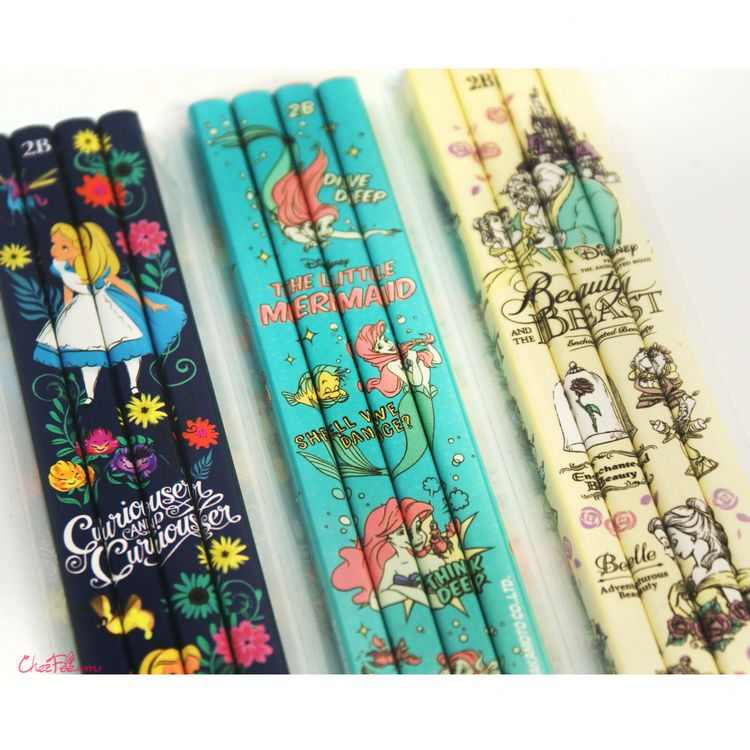 boutique kawaii shop france japonais chezfee disney japan alice ariel belle crayons lot 2
