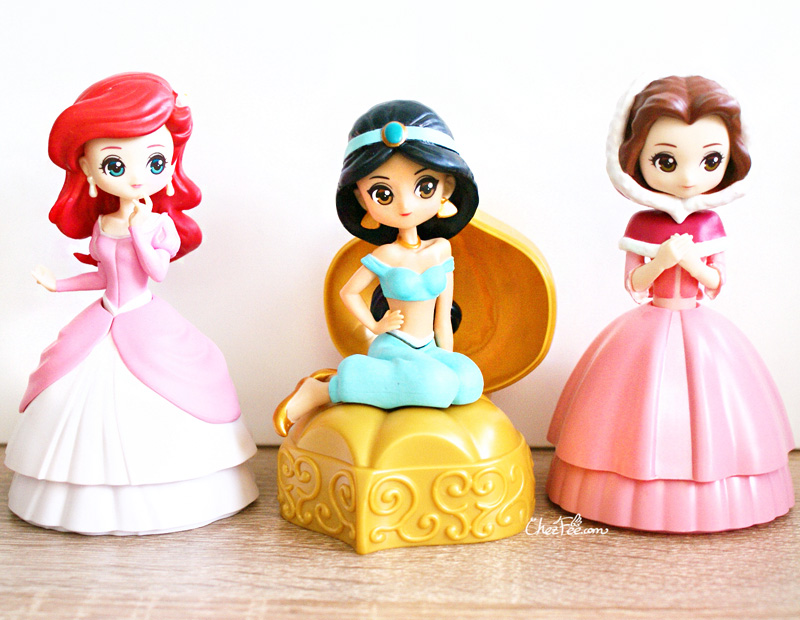 boutique kawaii shop chezfee gashapon figurine disney princesses posket heroine doll 4