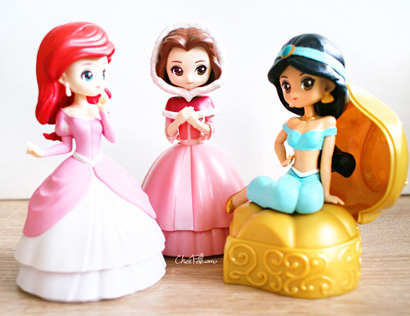 boutique kawaii shop chezfee gashapon figurine disney princesses posket heroine doll 5