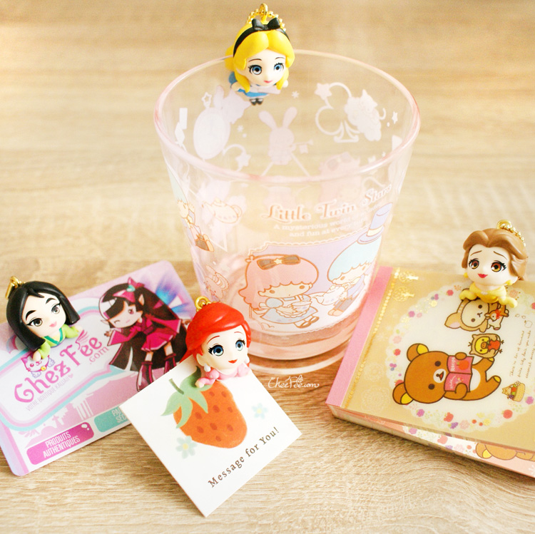 boutique kawaii shop chezfee gashapon figurine porte clef clip chibi disney princesses 10