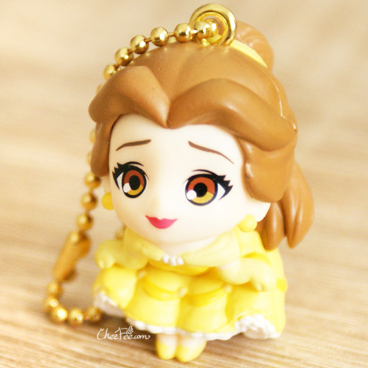 boutique kawaii shop chezfee gashapon figurine porte clef clip chibi disney princesses belle 1