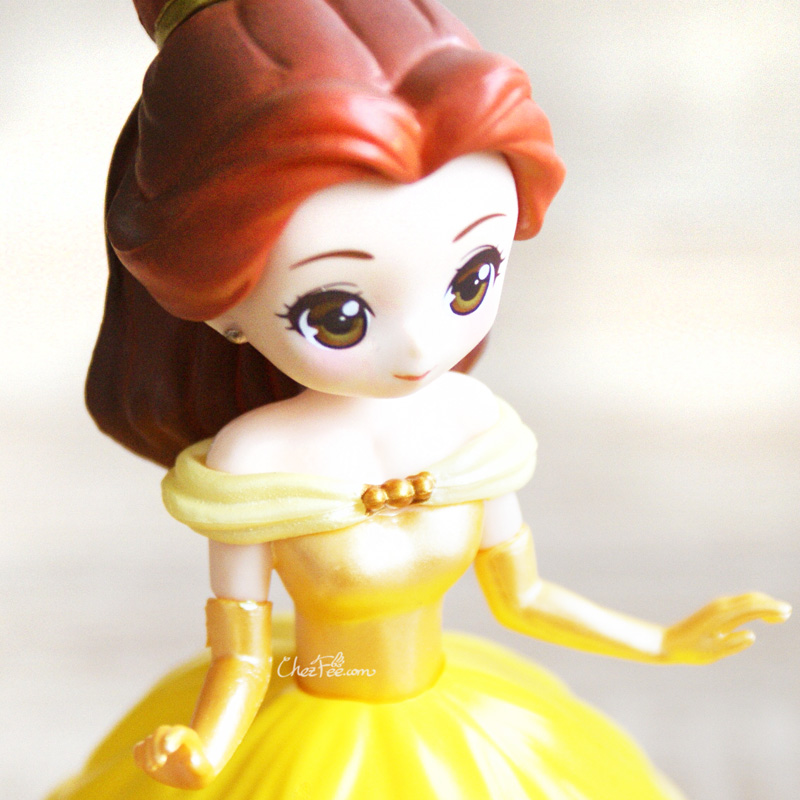 boutique kawaii shop chezfee gashapon figurine disney princesses posket heroine doll belle robe 5