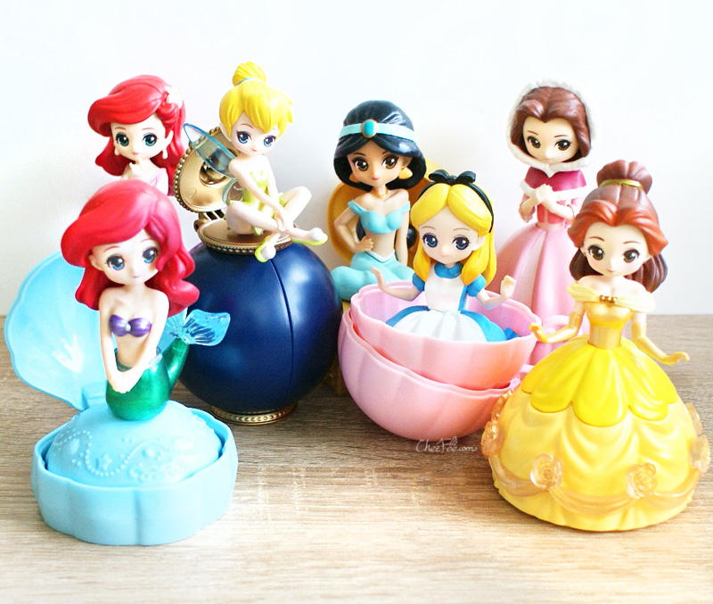 boutique kawaii shop chezfee gashapon figurine disney princesses posket heroine doll filles 1