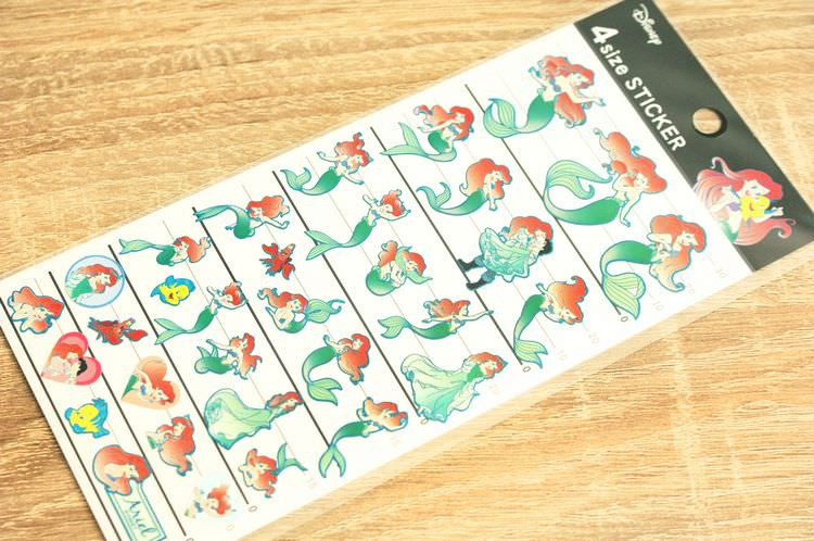 boutique kawaii shop cute chezfee disney japan sticker autocollant ariel sirene 3