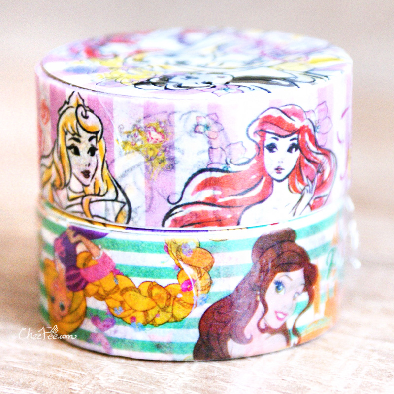 boutique kawaii shop chezfee disney japan princesses masking tape sticker princesses lot 2