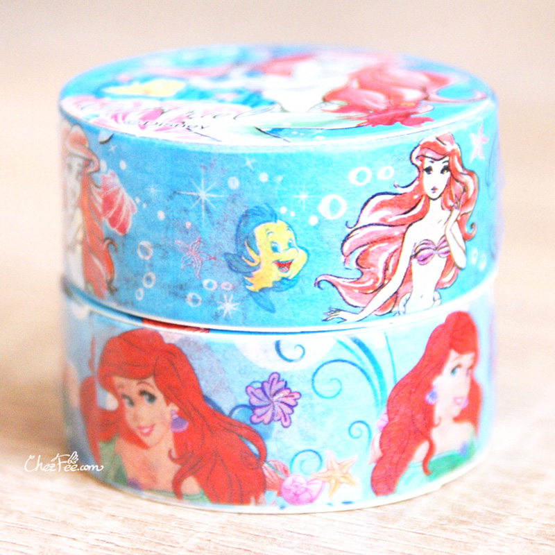boutique kawaii shop chezfee disney japan princesses masking tape sticker sirene ariel 2