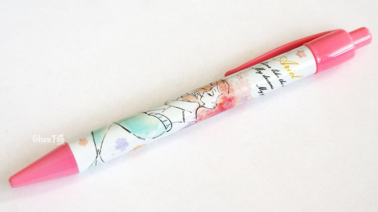 boutique kawaii shop chezfee papeterie disney japan bic criterium ariel rose 1