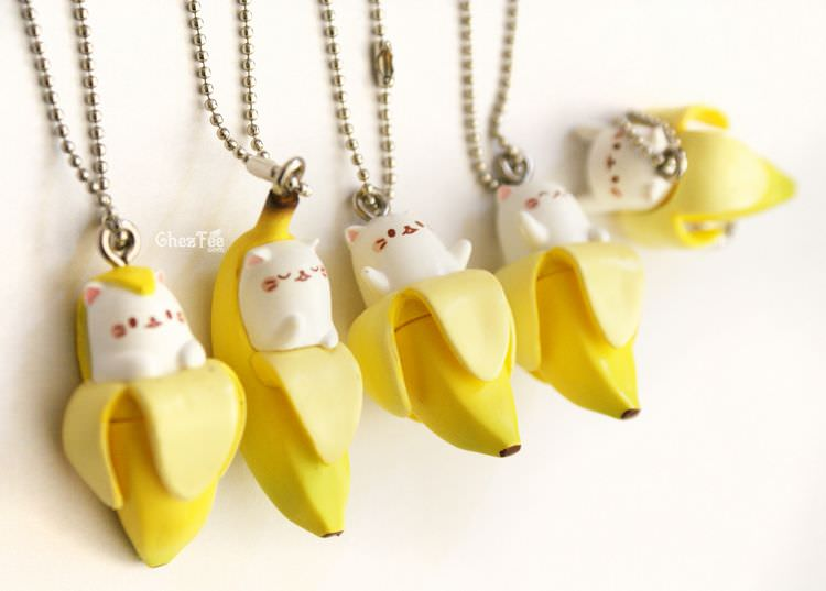 boutique kawaii shop cute gashapon japonais chat bananya 3