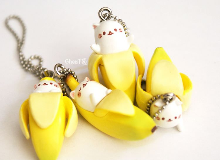 boutique kawaii shop cute gashapon japonais chat bananya 4