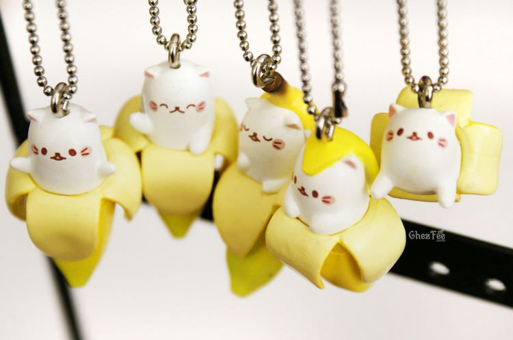 boutique kawaii shop cute gashapon japonais chat bananya 6