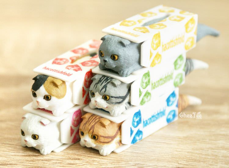 boutique kawaii shop chezfee gashapon blindbox neko scottish fold chat boite 11