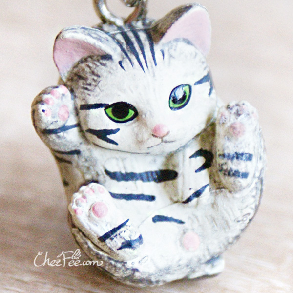 boutique kawaii shop chezfee object gashapon blindbox chat roule rond gris tigre 1