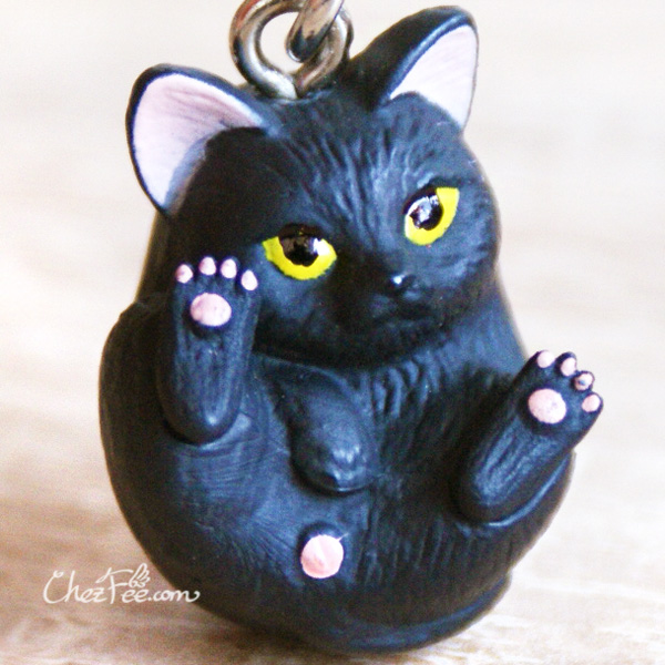 boutique kawaii shop chezfee object gashapon blindbox chat roule rond noir 1
