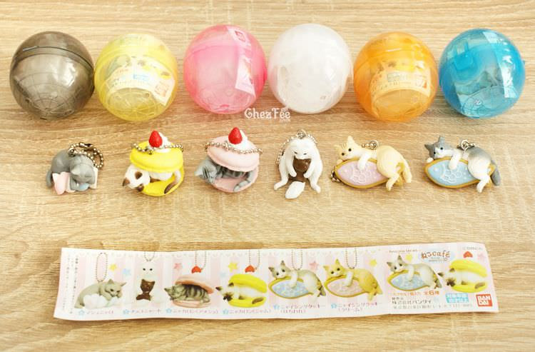 boutique kawaii shop cute chezfee gachapon france straps porte clef neko cafe chat gateaux 1