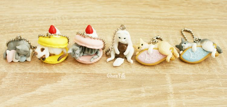 boutique kawaii shop cute chezfee gachapon france straps porte clef neko cafe chat gateaux 4