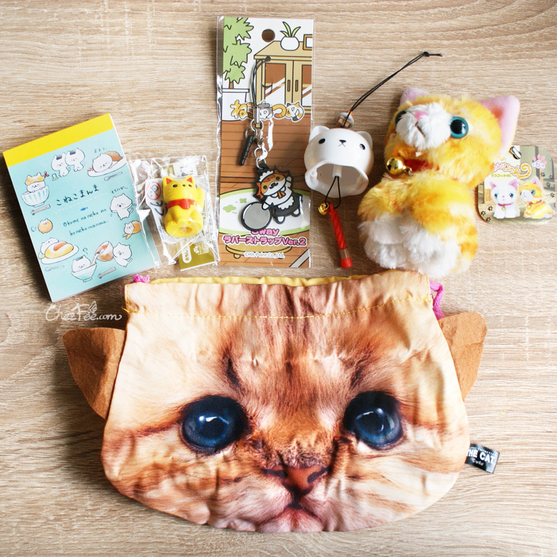 boutique kawaii shop france chezfee gachapon capsule pochette pochon japonais visage bouille chat 8