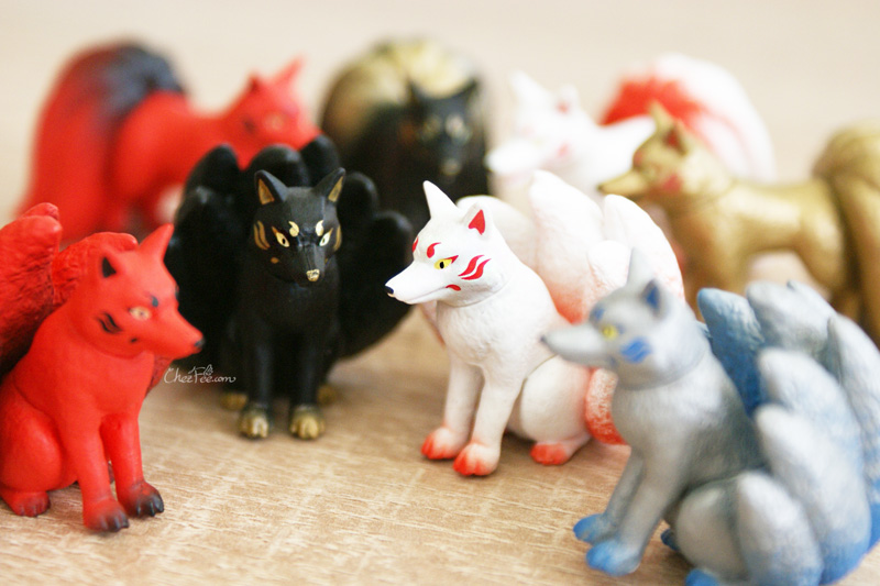 boutique kawaii shop chezfee gashapon renard neuf queue kyubiku 4