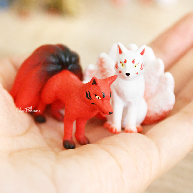 boutique kawaii shop chezfee gashapon renard neuf queue kyubiku 9