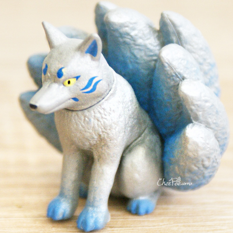 boutique kawaii shop chezfee gashapon renard neuf queue kyubiku argent