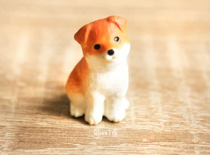 chien gashapon kawaii figurine miniature shiba inu roux hein. Black Bedroom Furniture Sets. Home Design Ideas