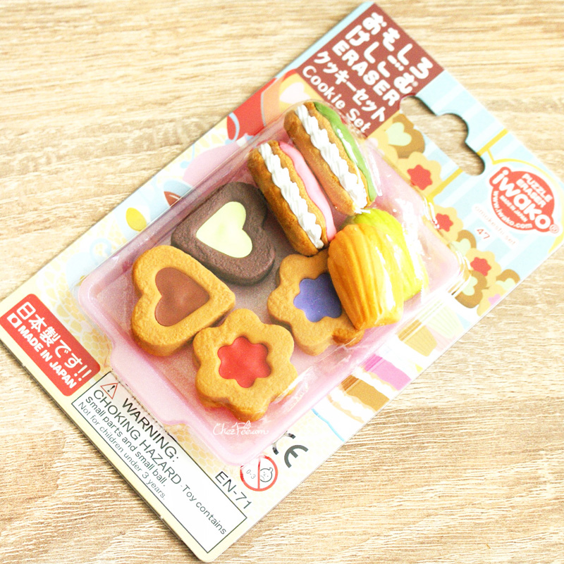 boutique kawaii shop france chezfee cute papeterie gomme eraser iwako japon food biscuits 1