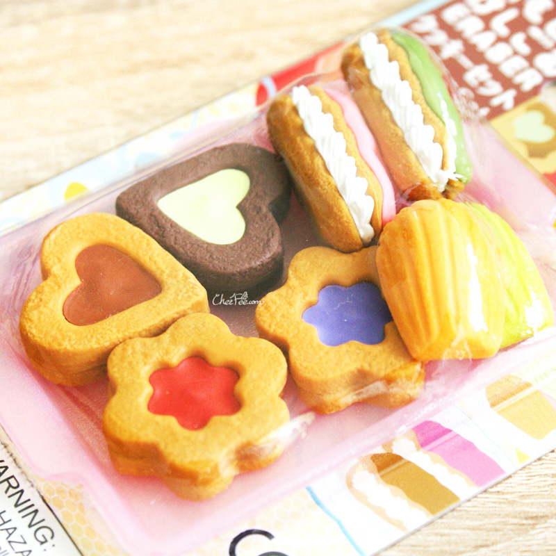 boutique kawaii shop france chezfee cute papeterie gomme eraser iwako japon food biscuits 2