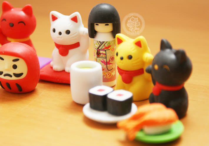 boutique kawaii shop france chezfee com cute papeterie gomme eraser iwako japan japon nouvel an kokeshi manekineko 3