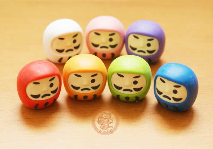 boutique kawaii shop france chezfee com cute papeterie gomme eraser iwako japan japon daruma3