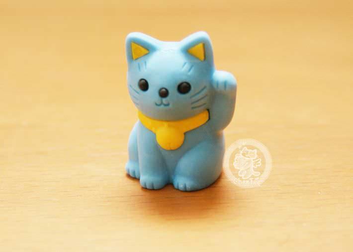 boutique kawaii shop france chezfee com cute papeterie gomme eraser iwako japan japon manekineko bleu1