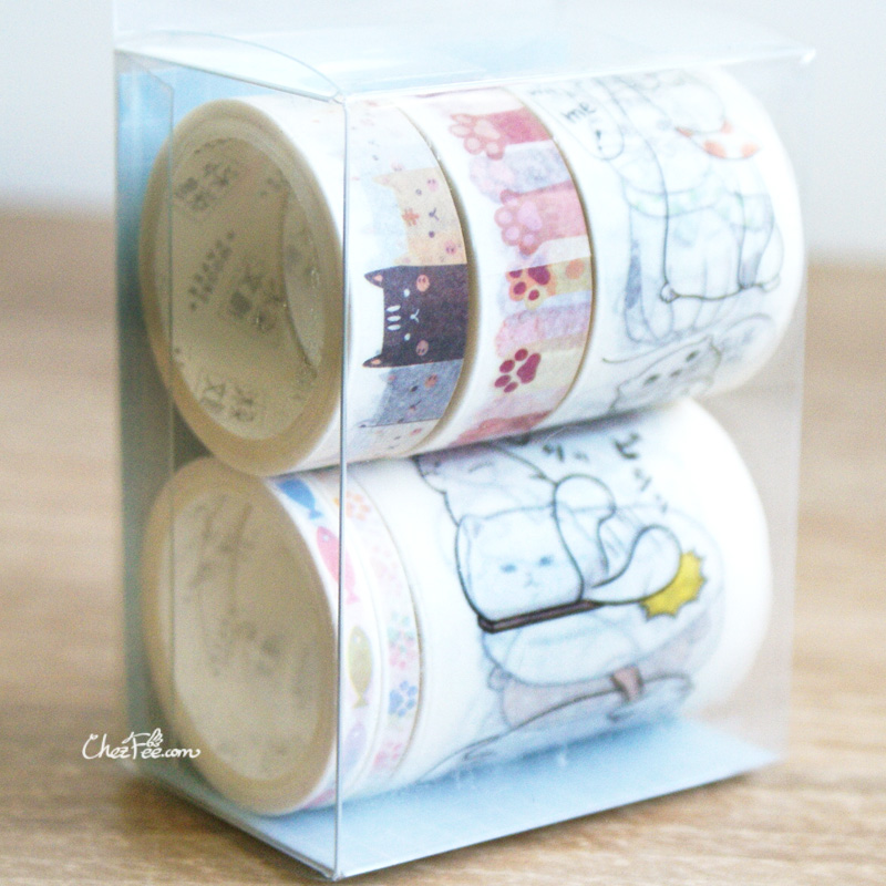 boutique kawaii shop chezfee fourniture papeterie washi masking tape chat lot 3
