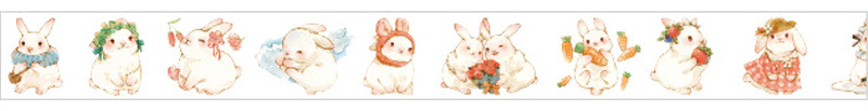 boutique kawaii shop chezfee fourniture papeterie washi masking tape lapin 5