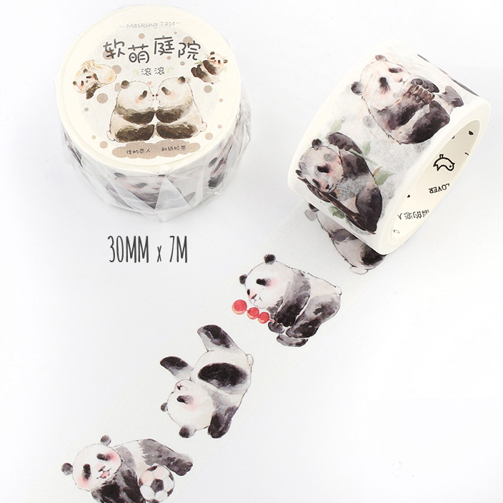 boutique kawaii shop chezfee fourniture papeterie washi masking tape panda 3