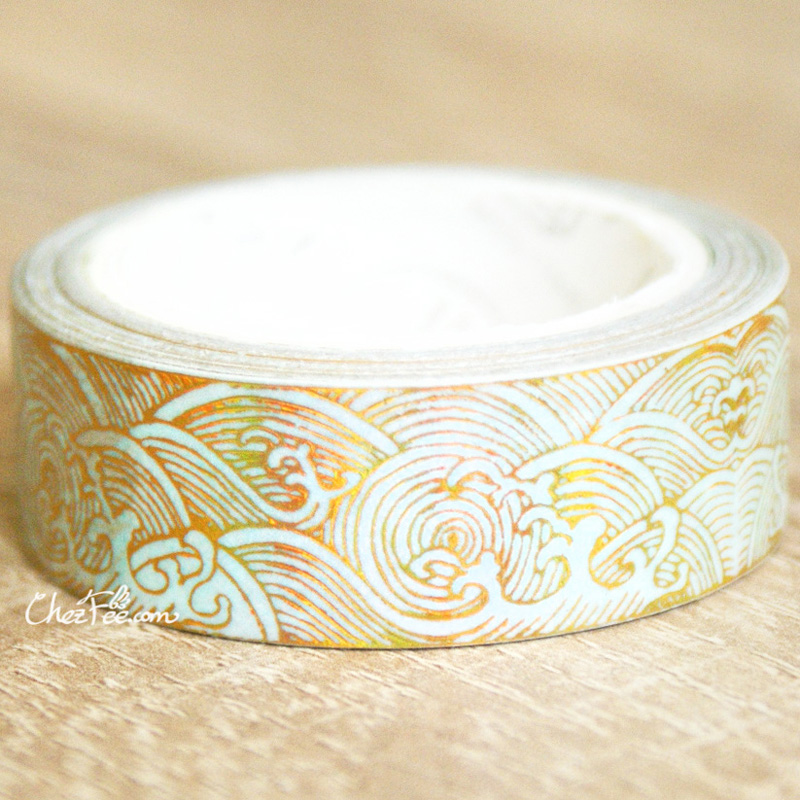 boutique kawaii shop chezfee fourniture papeterie washi masking tape dore vague nami 2