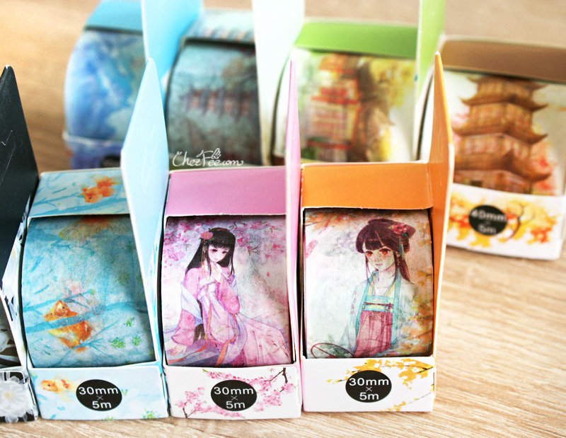 boutique kawaii shop chezfee fourniture papeterie washi masking tape motif vetement traditionnel chinois 1