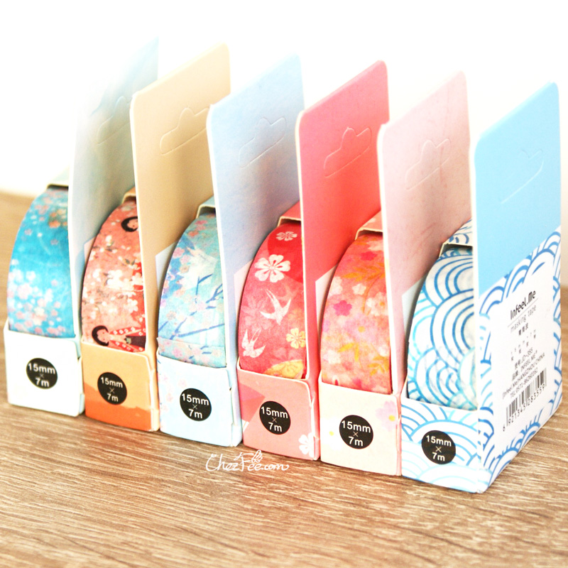boutique kawaii shop chezfee fourniture papeterie washi masking tape motif japonais 2