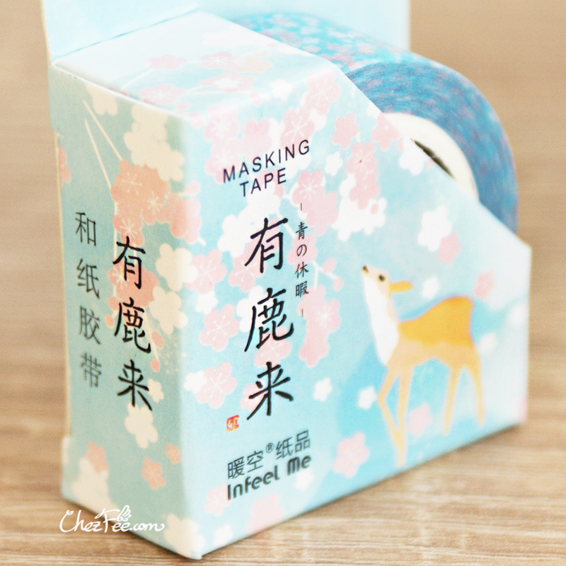 boutique kawaii shop chezfee fourniture papeterie washi masking tape motif japonais biche 1