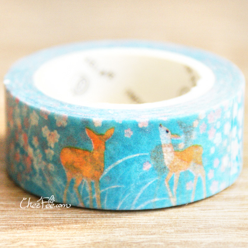 boutique kawaii shop chezfee fourniture papeterie washi masking tape motif japonais biche 2