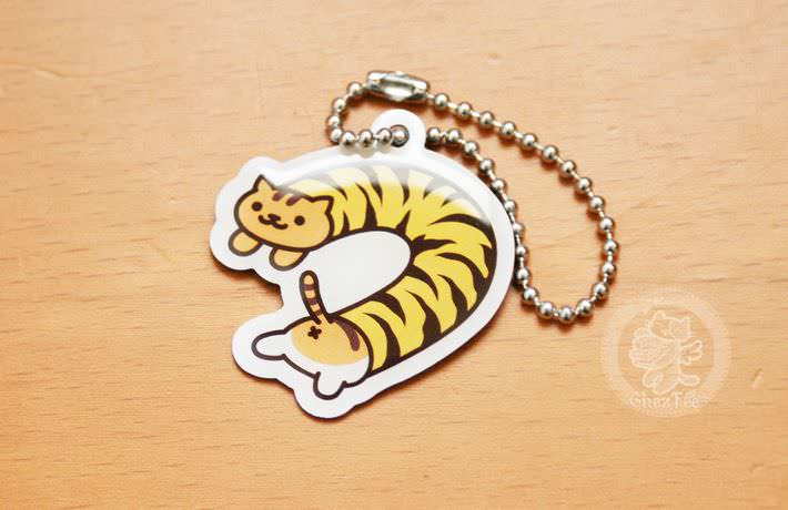 boutique kawaii shop france lille chezfee com gachapon capsule japonais authentique cat neko atsume charm strap tigre1