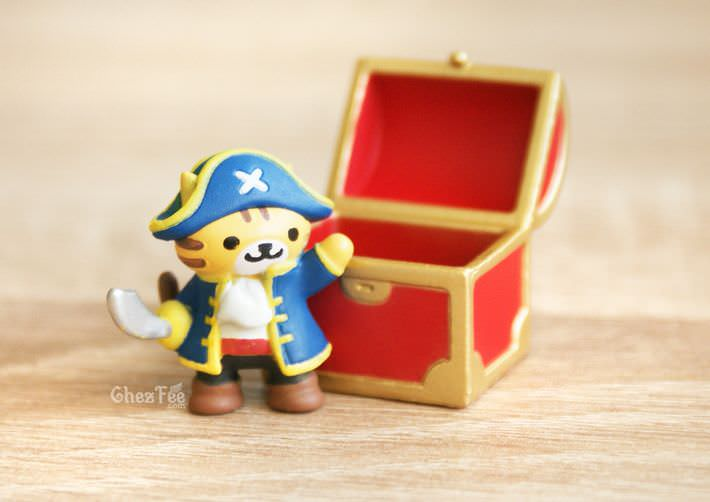 boutique kawaii shop france chezfee gachapon japonais neko atsume figurine version5 pirate1