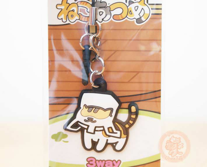 boutique kawaii cute shop chezfee com neko atsume cat chat strap multi usage shirokiji san sac plastique1