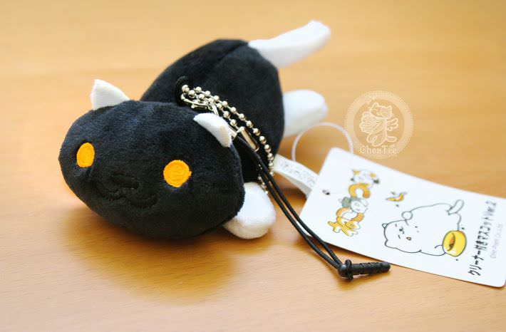 strap charm nettoyeur ecran mini peluche boutique kawaii shop cute france chezfee com neko atsume chat noir1
