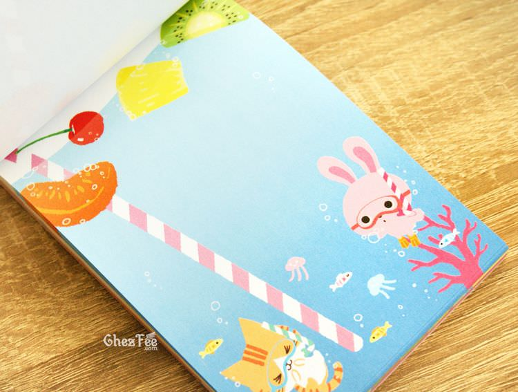 boutique kawaii shop cute papeterie chezfee carnet memo japonais usagi neko fruit 3